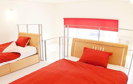 ツインルームの客室・ベッド・寝室