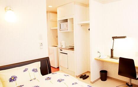シングルルームの客室・ベッド